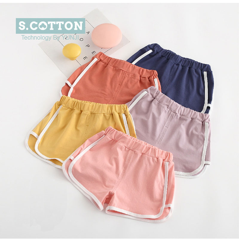 Summer Boys Shorts Cotton Shorts For Girls Sports Boardshort Kid Children Beach Pants Baby Trousers