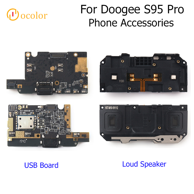 Ocolor For Doogee S95 Pro Loud Speaker Buzzer Ringer Assembly Fixing For Doogee S95 ProUSB Plug Charge Board Phone Accessories