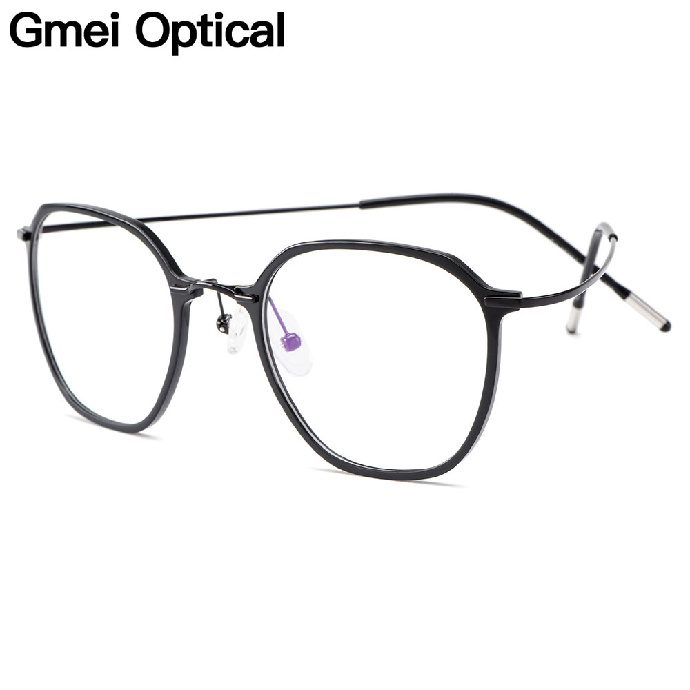 Gmei Optical Ultralight Beta Titanium Flexible Glasses Frame Women Square Prescription Eyeglasses Myopia Optical Frames M19001