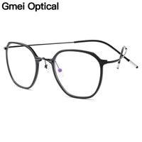 Gmei Optical Ultralight Beta Titanium Flexible Glasses Frame Women Square Prescription Eyeglasses Myopia Optical Frames M19001