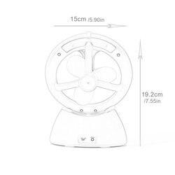 Twórczy Usb drugiej generacji wody Elf cichy wentylator nawilżacz ręczny do ładowania mini mały wentylator w Wentylatory od AGD na