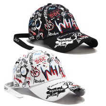 Casual Men Baseball Caps Cotton Cap Women Hat Hip Hop Girl Adjustable Snapback Personality Alphabet Graffiti