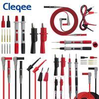Cleqee P1308B 8 Pcs Test Lead Kit 4 Mm Banana Plug Naar Hook Kabel Vervangbare Multimeter Probe Test Draad probe Alligator Clip|Instrument onderdelen & Accessoires|   -