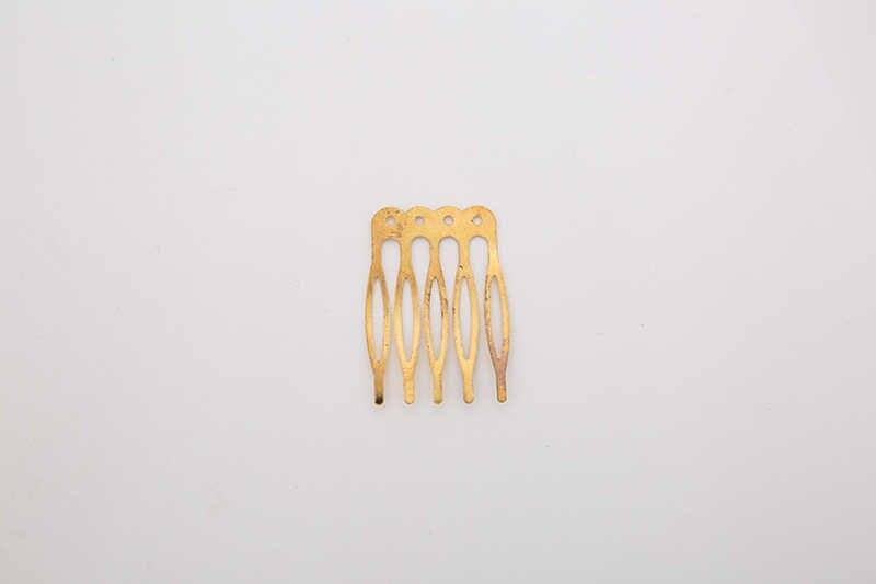 5 pz/lotto Oro di Colore Rodio 5/10 Denti di Capelli Pettine Dei Capelli Pinze Artiglio Forcine per Capelli di Nozze Gioielli FAI DA TE e componenti