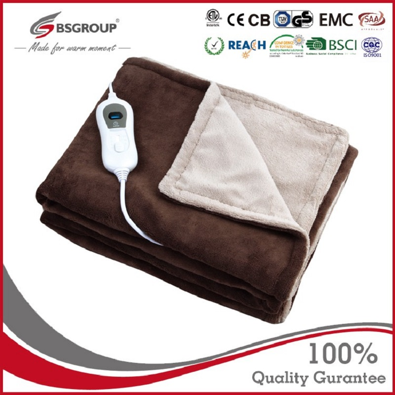 220-240V 120W 160x120cm Soft Microplush Warmer Throw Electric Heating Thermal Blanket 220V Washable Overblanket With Europe Plug