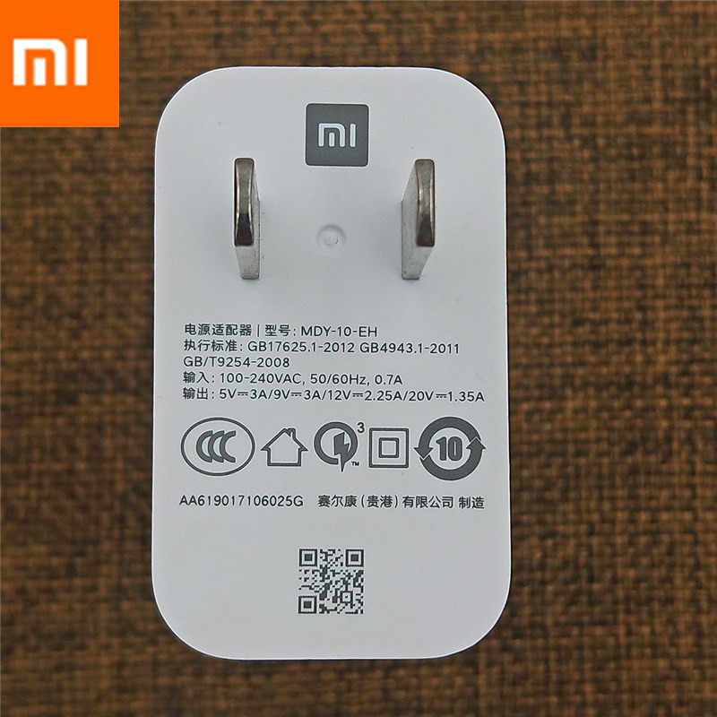 Original Xiao mi 27W chargeur rapide QC 3.0 Turbo charge adaptateur secteur USB C pour mi 9 8 SE 9T CC9 A2 A1 mi X 3 2 rouge mi note 7 K20 pro