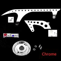Motorcycle Front&Rear Chrome Drive Pulley Engine Upper Cover Sets For Harley Sportster XL 883 1200 48 72 SuperLow 2004-2018