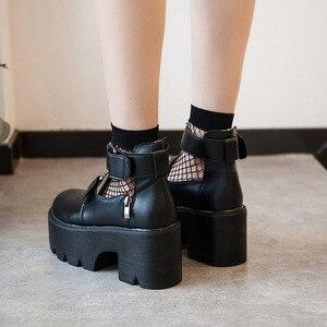 Image 2 - Женская обувь в стиле «Куклы», готическая обувь в стиле «лолита» в стиле ретро, кожаная обувь принцессы в японском стиле, каваи, аниме, костюмы для косплея
