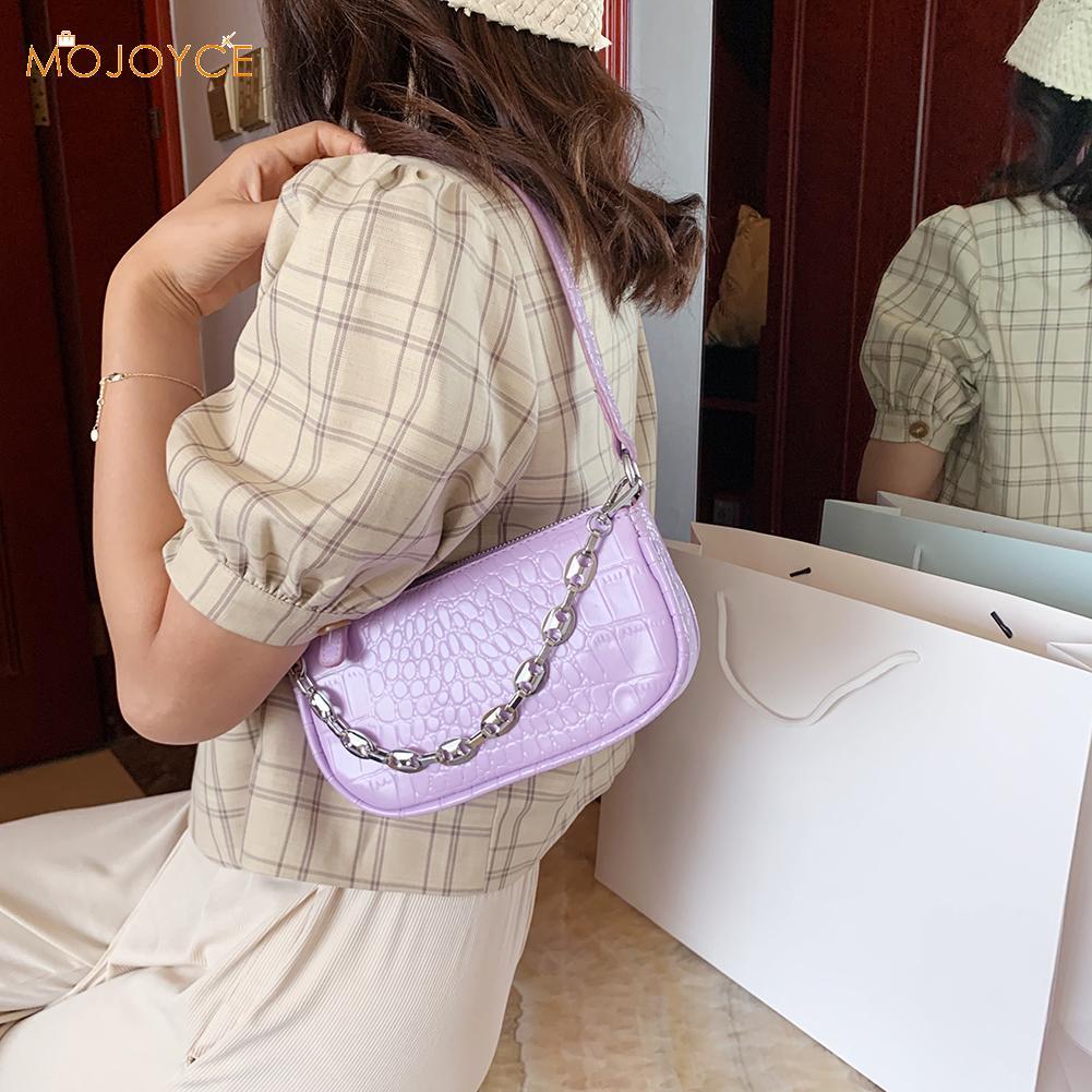 Casual Retro Animal Pattern Women Handbags Totes Ladies Pure Color Chain Shoulder Messenger Underarm Bag Satchel Phone Pouch