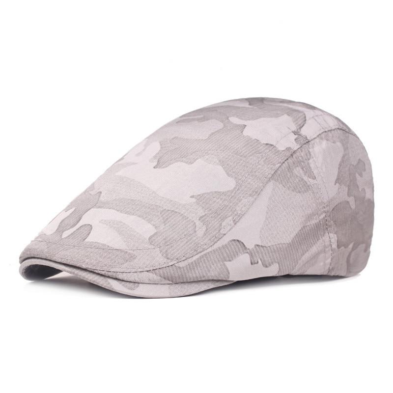Мужская и женская хлопковая камуфляжная шляпа для гольфа, для вождения, кепка, плоская кепка, повседневная Кепка Утконос, шапка для вождения, 10,7 - Цвет: GY