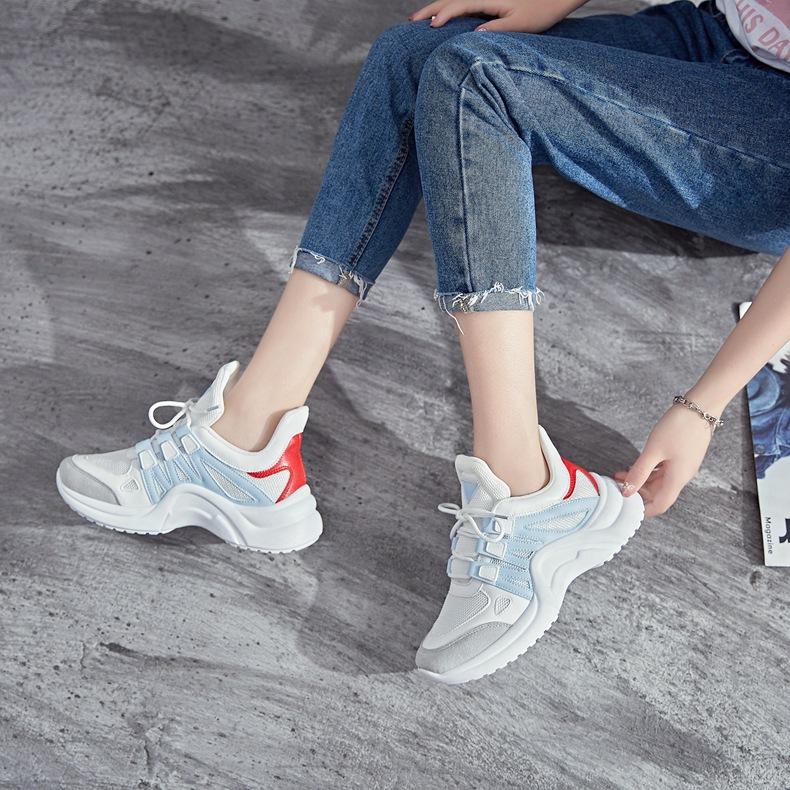 H70cb2fa5d7e54d3ea44fb48768060c08h - Fujin Sneakers Women Breathable Mesh Casual Shoes Female Fashion Sneaker Lace Up High Leisure Women Vulcanize Shoe Platform