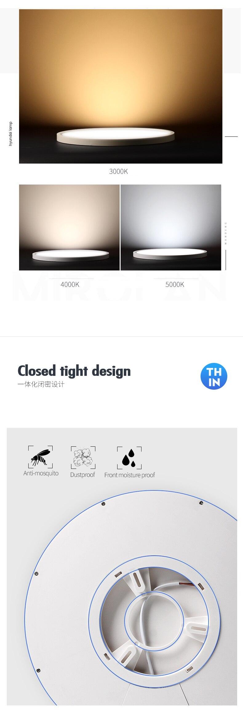 H70cb364ae16647869d3cecff614ac7bf0 Modern LED Ceiling Light 12W 18W 24W 32W 220V 5000K Kitchen Bedroom Bathroom Lamps Ultrathin Ceiling Lamp