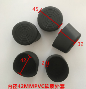 Furniture Accessories 42mm PVC Pipe With Inner Diameter  PVC Soft PVC Round Pipe PVC Soft Plug Protective Rubber