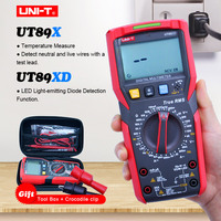 True rms 디지털 멀티 미터 UNI-T ut89x ut89xd ac dc 전압 전류 테스터 커패시턴스 옴 측정 온도/led 테스터 ncv + gift