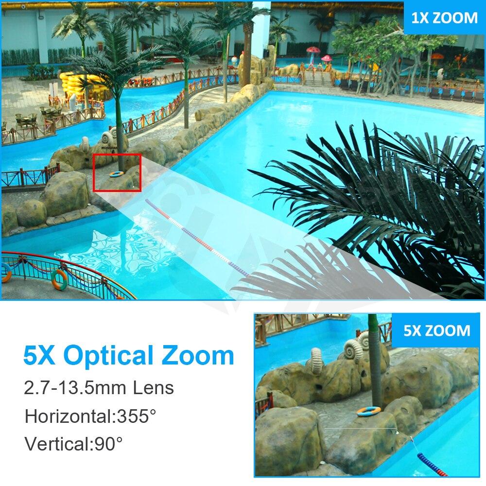 SIM Karte 3G 4G 1080P 5MP Drahtlose PTZ IP Kamera Metall Outdoor 5X Optische Zoom Zwei Weg audio CCTV Sicherheit Kamera Onvif CamHi Pro