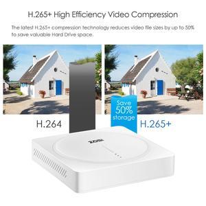 Image 3 - ZOSI 4 ערוץ HD 5MP 4 in 1 AHD CVBS CVI TVI Nightvision אבטחת זיהוי וידאו מצלמה מערכת עם CCTV Bullet מצלמה ערכת DVR