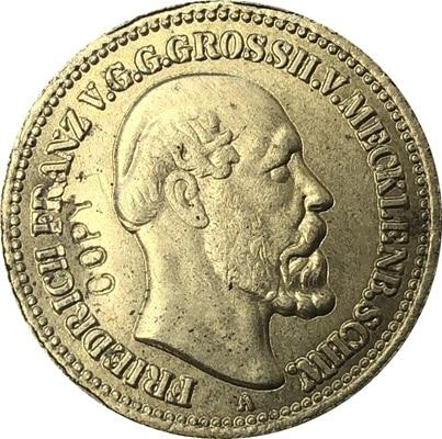 24 k позолоченные Пособия по немецкому языку 1878 10 копия монет 19,5 мм