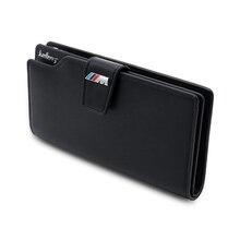 Couro genuíno logo/m logotipo homem carteira saco de embreagem carro carteira carteira motorista saco de cartão de crédito para bmw m f20 e91 g30 e34 x5 e53 e90 e70