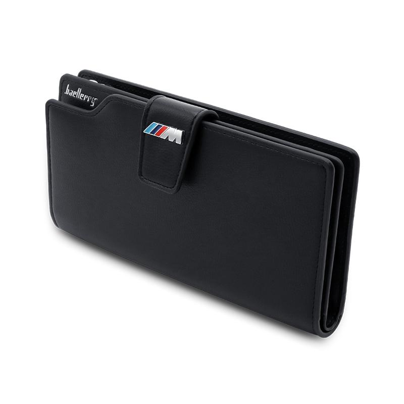 Genuine Leather ///M Logo Man Wallet Clutch Bag Car Driver License Bag Credit Card Bag For BMW M F20 E91 G30 E34 X5 E53 E90 E70