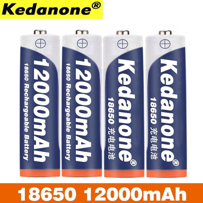 18650 batería de litio-Ion batería recargable 18650B 3,7 V 12Ah... аккумулятор 18650 capacidad linterna para aparatos electrodomésticos