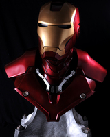 Hot Selling Iron Man Tony Stark 1:1 MK3 Head Portrait With LED Light GK Action Figure Collectible Model Toy
