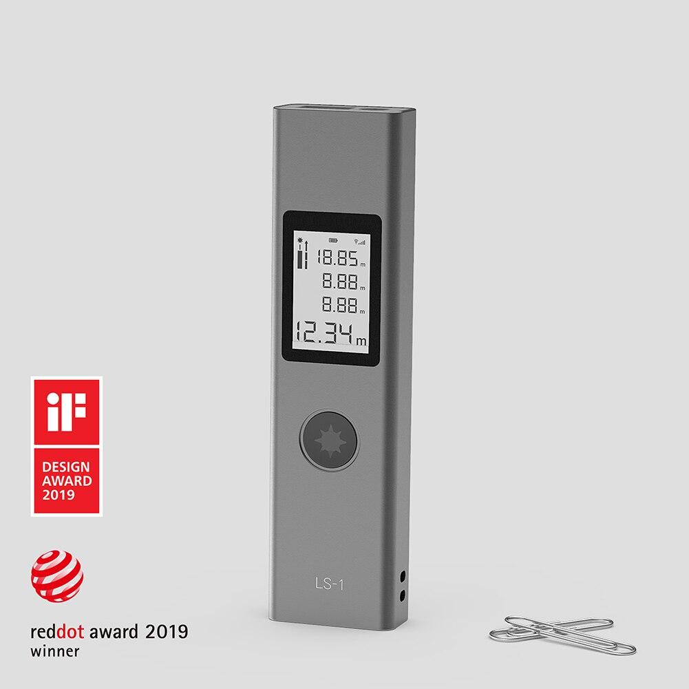 Intelligent Digital Handheld Laser Distance Meter Mini Rangefinder Diastimeter Measure 40M Large LCD with backlight