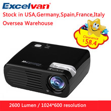 Excelvan BL23 2600 Lumen LED Proyektor Multimedia Home Cinema Projector USB/AV/HDMI/ATV/VGA TFT LCD Projetor Built-In Speaker(China)