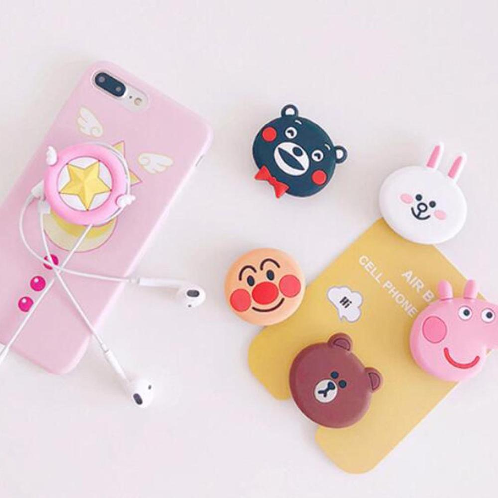 Cartoon Cute Mobile Phone Holder Air Bag Cell Phone Bracket Phone Ring Holder Universal Silicone Phone Expanding Stand And Grip