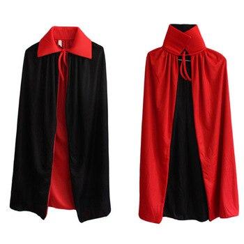 Halloween Collar Black And Red Cloak Witch Cloak Vampire Cloak Double Cloak Death God Devil фото