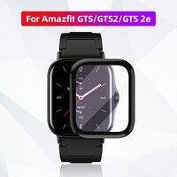 De fibra suave Protector de vidrio cubierta de película para Amazfit GTS 2 Mini GTS2 GTS2e Bip U Pro GTS 2e GTS 2 Protector de pantalla Smartwatch caso