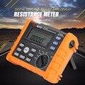 Peakmeter ms2302 isolação digital megger terra resistência tensão tester 0-4kohm 100 grupos de registro de dados com luz de fundo
