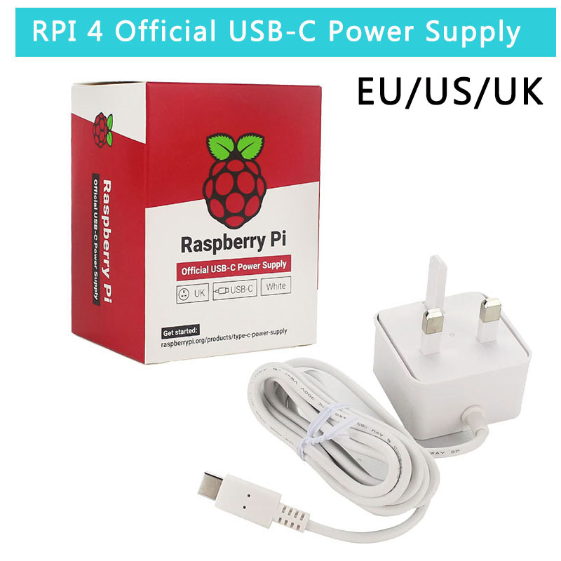 Raspberry Pi 4 Official USB-C Power Adapter 5.1V 3A Power Supply 1.5m 18 AWG Cable Power Charger For Raspberry Pi 4 Model B