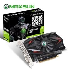 MAXSUN بطاقة الرسومات gtx 1650 المحولات 4G نفيديا 8000MHz 1485MHz GDDR5 128bit PCI اكسبرس X16 HDMI + DVI + موانئ دبي gtx1650 الفيديو بطاقة
