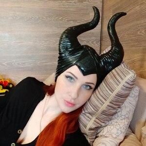 Image 5 - Maléfique masque la maîtresse du mal, accessoires de Cosplay, couvre chef unisexe, Halloween Angelina Jolie reine noire, couvre chef chapeaux