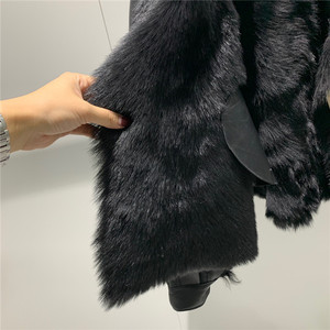 Image 5 - Winter New Women Sheep Wool Fur Real leather jacket sheepskin Double face Coat Oversized