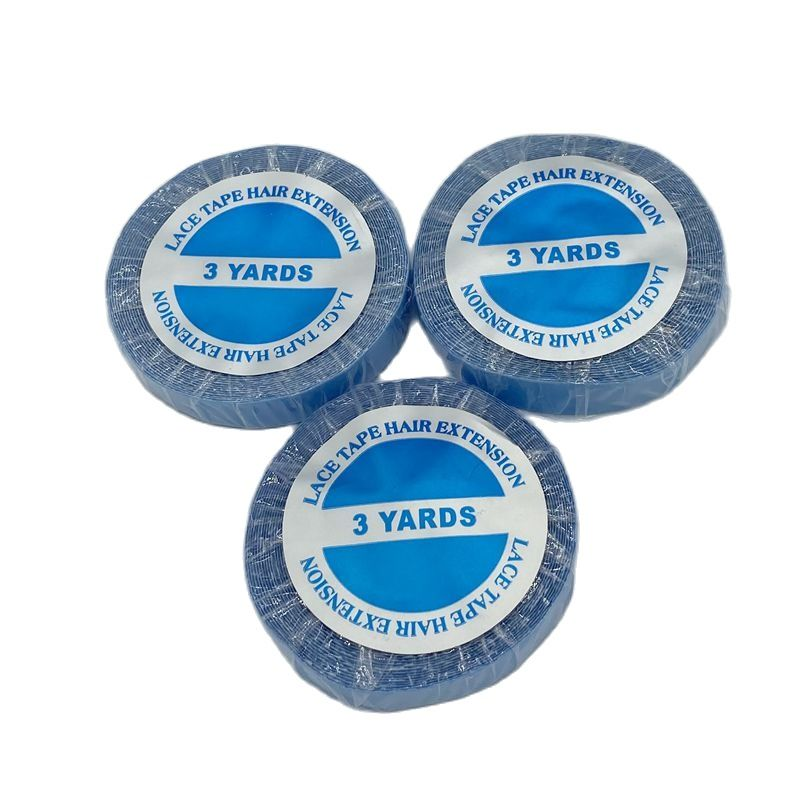 1 roll 3 yards Blue lace front support tape for hair extension double side tape for tape hair extension
