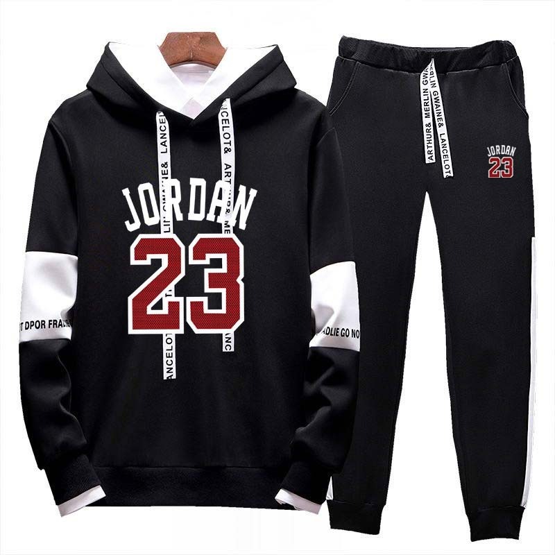 2020New Two Piece Set Hoodie Men's Tracksuit Jordan 23 Running Tracksuit Casual Street Wear Mens Clothing Sports Sets Jogger Set