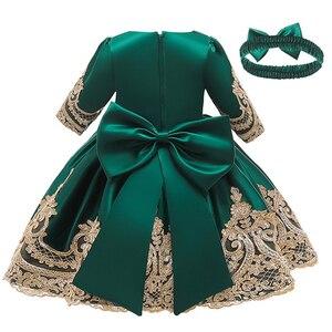 Image 1 - Cute Baby Wedding Party mała druhna haft suknia bankietowa pierwsza eucharystia na urodziny bankiet pierwszej rocznicy dziecka