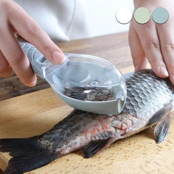 New Fish Scale Remover Scaler Scraper Cleaner Kitchen Tool Peeler Gadgets Fish Scaler Clam Opener Fishs Clam Scale Scraper Sep 2