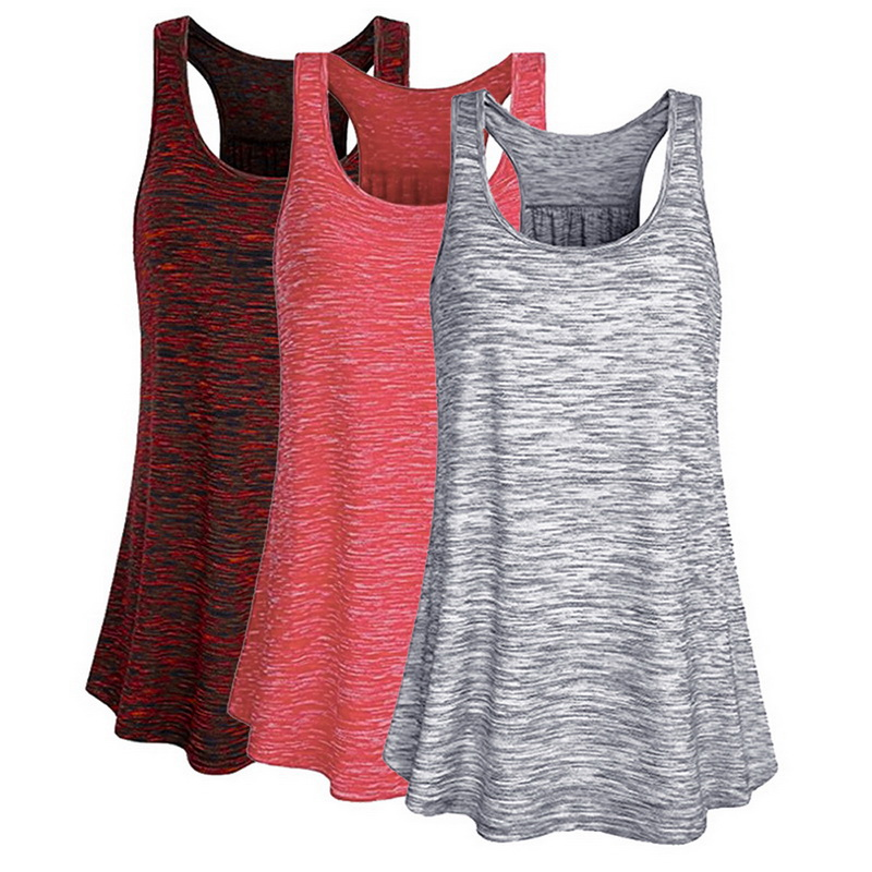 Sfit Breathable Women Running Vest Shirts Solid Fitness Sport Tanks Tops Loose Straps Sweat Top Gym Shirts Summer Sportswear