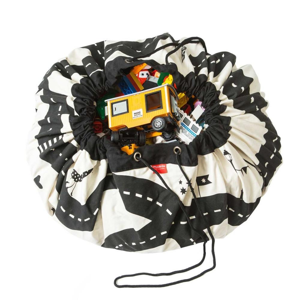 Детский игровой коврик, большая сумка для хранения игрушек, сумка-Органайзер, удивительный Детский ковер для игр, украшение для комнаты, нес...