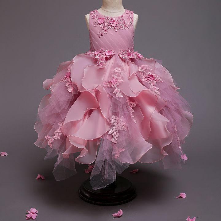 Origional New Style Girls Dress Embroidered Beads CHILDREN'S Dress Industrial Hot Selling Children Shirt