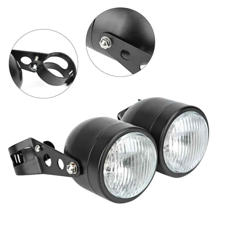 Motorbike Dual Headlight Motorcycle Modification Part Replacement Twin Headlight Lamp Twin Headlight