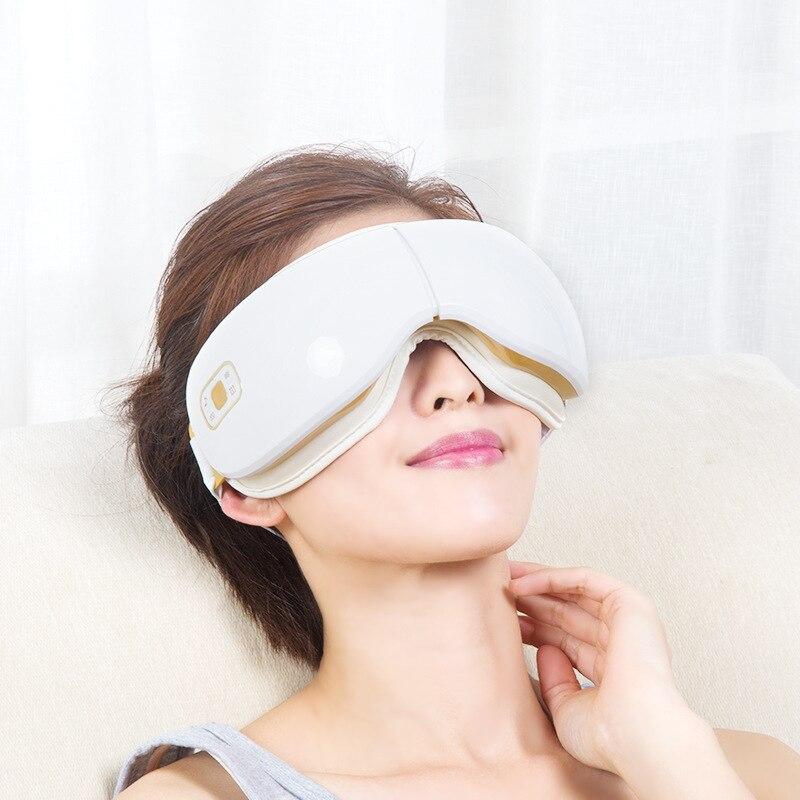 Высококлассный Интеллектуальный беспроводной массажер для глаз с воздушным давлением Вибрация термоупаковка защита для глаз аппарат для ... - 5