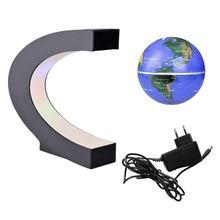 Ab mavi kaldırma Anti yerçekimi küre manyetik yüzen küre dünya haritası LED ışık çocuklar için ev ofis masası dekorasyon