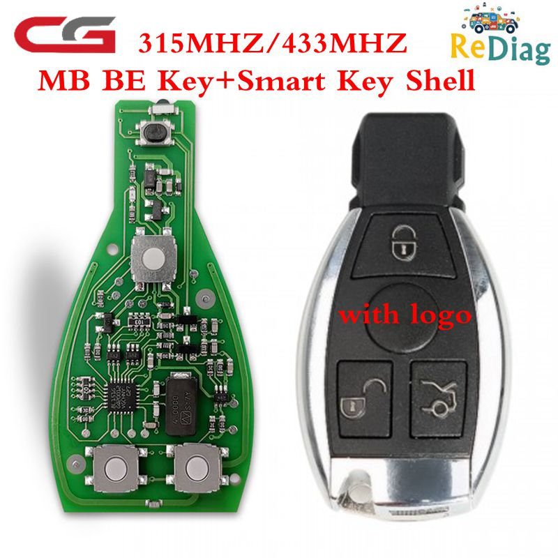 1/5/10PCS CGDI MB CG BE Key With Smart Key Shell 3/4 Button For All Benz FBS3 Immo Reusable Working With CGDI MB Programmer