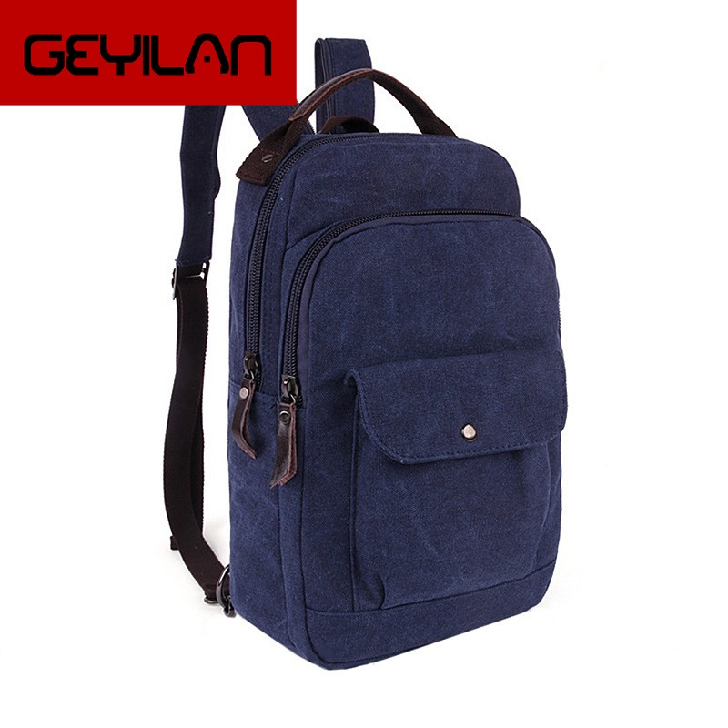 High Quality Washing Water Canvas Bag Leisure Street Small Single Shoulder Dual Use Bag Men And Women Travel Backpack