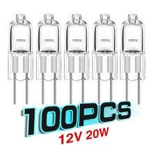 TSLEEN Chaud! 100 pièces économie dénergie G4 Base tungstène halogène lampe ampoule G4 20W 12V blanc chaud bureau lumière claire ampoule éclairage intérieur