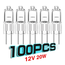 TSLEEN Hot! 100Pcs Energy Saving G4 Base Tungsten Halogen Lamp Bulb G4 20W 12V Warm White Desk Light Clear Bulb indoor lighting