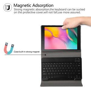 Image 4 - החייבת מקלדת Case עבור Samsung Galaxy Tab 8.0 2019 מקרה כיסוי עבור SM T290/T295 אלחוטי נשלף Bluetooth Tablet funda